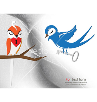 Free love birds vector - vector gratuit #255825
