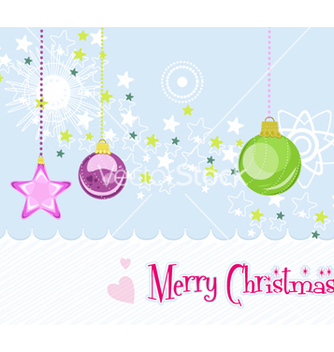 Free christmas greeting card vector - Free vector #255835
