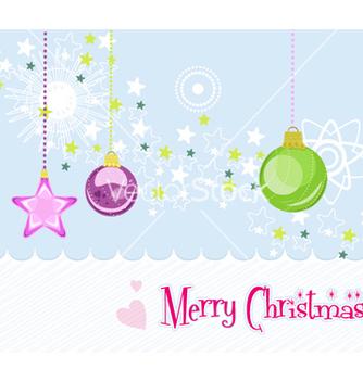 Free christmas greeting card vector - бесплатный vector #255835