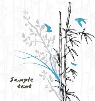 Free birds with floral vector - Free vector #255875