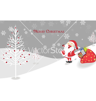 Free santa with presents vector - vector gratuit #255965