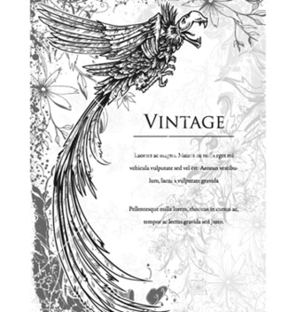 Free vintage ilustration with crow vector - Free vector #256075