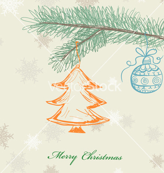 Free christmas greeting card vector - Kostenloses vector #256115