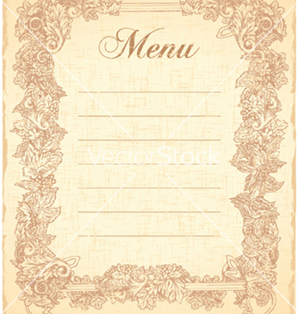 Free vintage restaurant menu vector - Kostenloses vector #256215