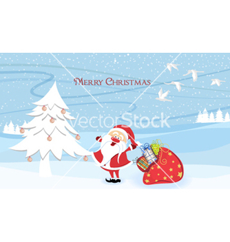 Free santa with tree vector - Free vector #256505