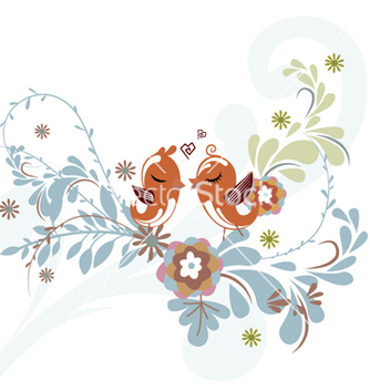 Free love birds vector - vector gratuit #256545