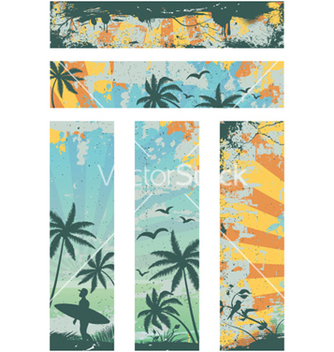 Free grunge summer banners vector - Free vector #256585