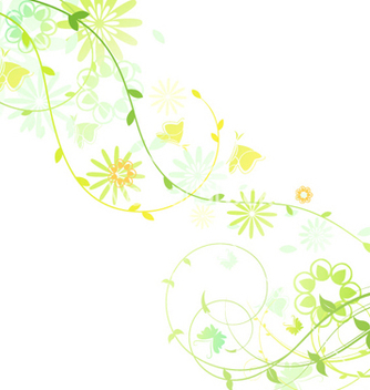 Free spring floral background vector - Free vector #256665