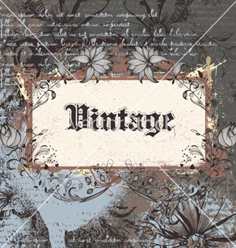 Free vintage frame vector - Free vector #256895