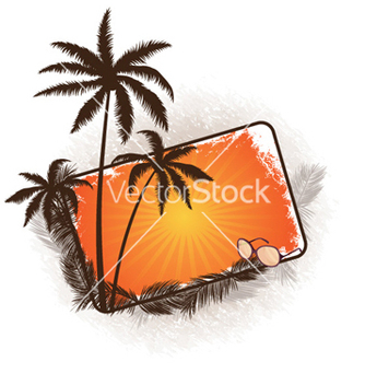 Free summer frame vector - Free vector #256985
