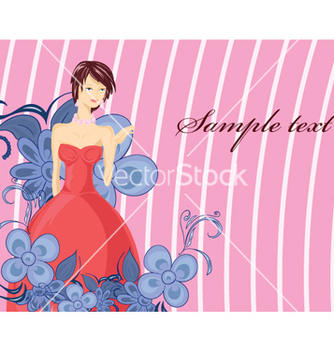 Free lady with floral vector - Free vector #257075