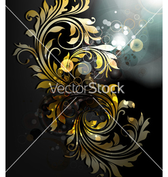 Free abstract gold floral background vector - Free vector #257125
