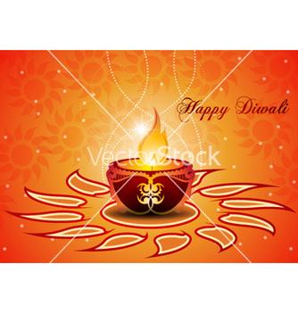 Free diwali greeting card vector - Kostenloses vector #257455
