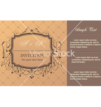 Free vintage invitation card vector - Free vector #257765