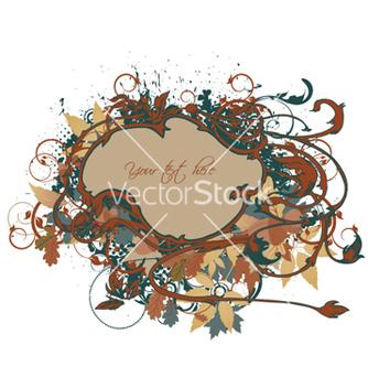 Free vintage floral frame vector - Free vector #257925