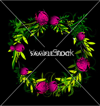 Free colorful spring floral frame vector - бесплатный vector #258055
