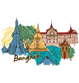 Free bangkok doodles vector - vector gratuit #258095