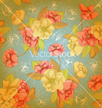 Free colorful floral pattern vector - Free vector #258315