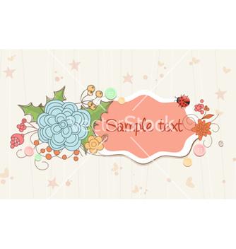 Free spring floral frame vector - Kostenloses vector #258505