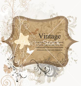 Free vintage floral frame vector - Free vector #258515