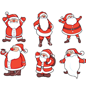 Free santa claus set vector - бесплатный vector #258655
