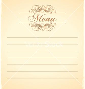 Free vintage menu vector - Free vector #258715