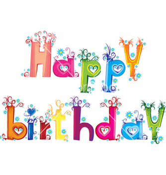 Free happy birthday vector - Kostenloses vector #258975