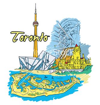 Free toronto doodles vector - Free vector #259515