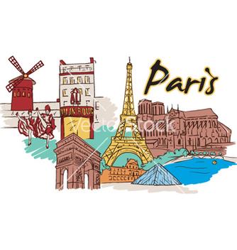 Free paris doodles vector - vector gratuit #259735