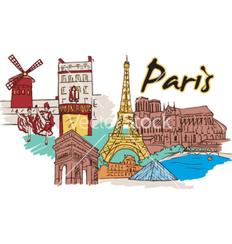 Free paris doodles vector - vector #259735 gratis