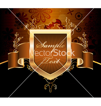 Free vintage gold label vector - Free vector #259785