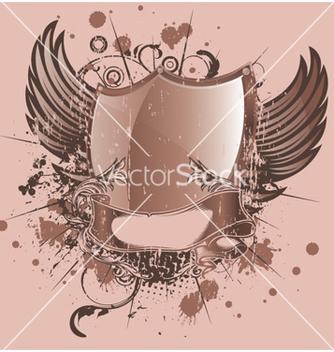 Free vintage emblem with shield vector - Kostenloses vector #260075