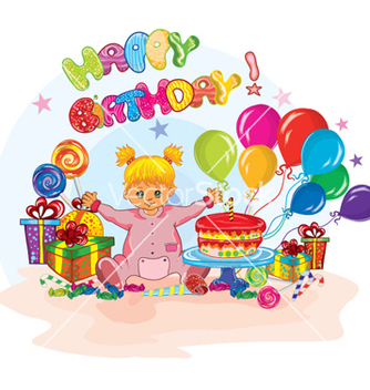 Free kids birthday party vector - Free vector #260095