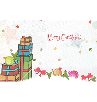 Free christmas greeting card vector - Free vector #260345
