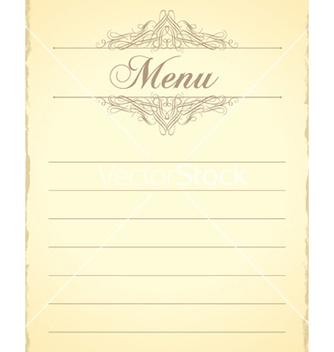 Free vintage menu vector - Kostenloses vector #260445