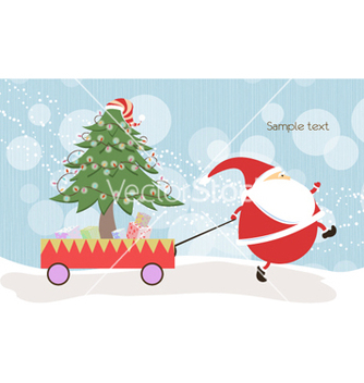Free santa with tree vector - Free vector #260595