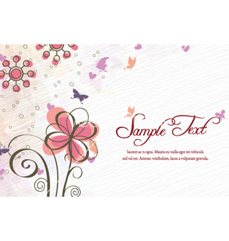 Free colorful floral vector - Kostenloses vector #260855