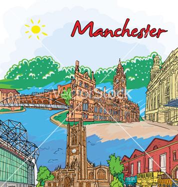 Free manchester doodles vector - Kostenloses vector #261195