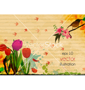 Free summer floral background vector - Free vector #261205