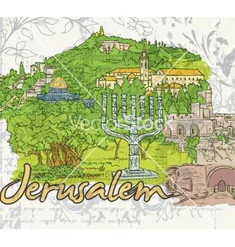 Free jerusalem doodles vector - Free vector #261255