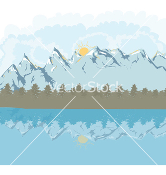 Free mountain landscape vector - бесплатный vector #261965