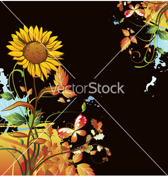 Free watercolor floral background vector - Free vector #262015