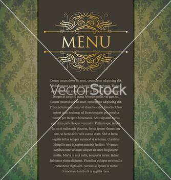 Free vintage menu vector - Free vector #262035