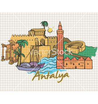 Free antalya doodles vector - Free vector #262085