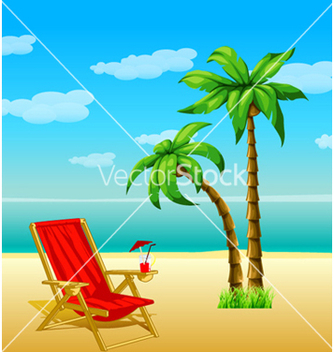 Free summer with palm trees vector - Free vector #262155