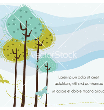 Free butterflies with trees vector - vector gratuit #262225