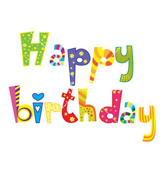 Free happy birthday vector - Kostenloses vector #262405