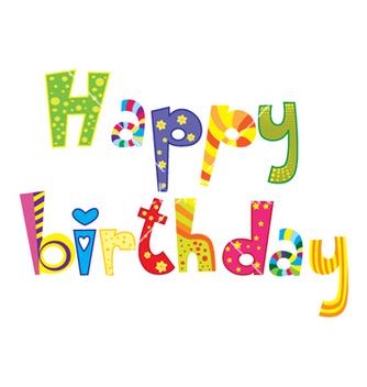 Free happy birthday vector - Kostenloses vector #262405