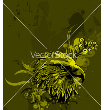 Free eagle head with floral background vector - Free vector #262735