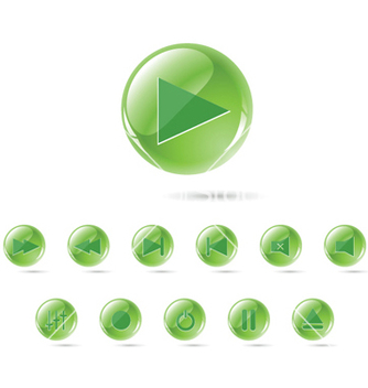 Free set of glossy buttons vector - Free vector #262795